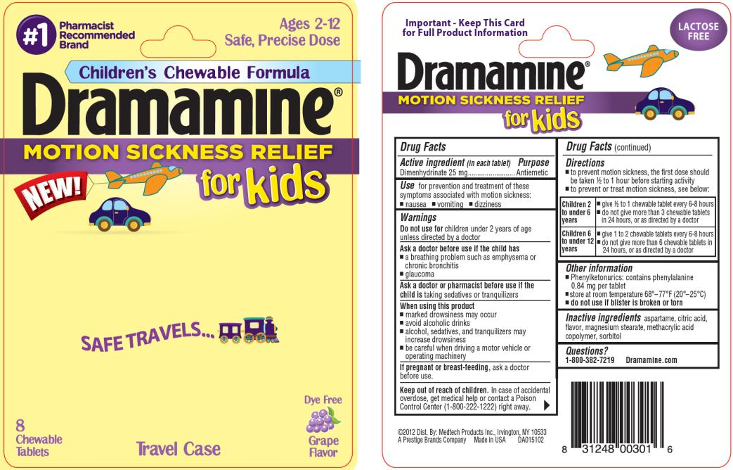 Dramamine For Kids (Dimenhydrinate) Tablet, Chewable [Medtech Products Inc.]