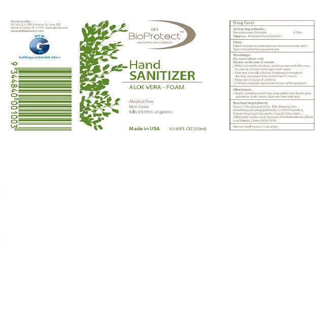 Gfs Bioprotect Hand Sanitizer Aloe Vera (Benzalkonium Chloride ) Aerosol, Foam [Gfs Us Llc]