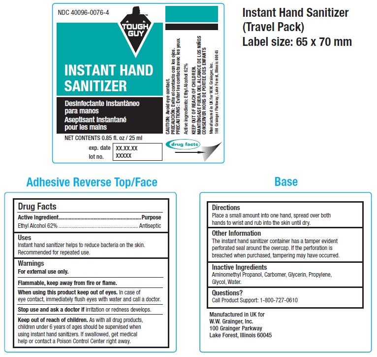 Tough Guy Instant Hand Sanitizer (Ethyl Alcohol) Liquid [W.w. Grainger, Inc.]