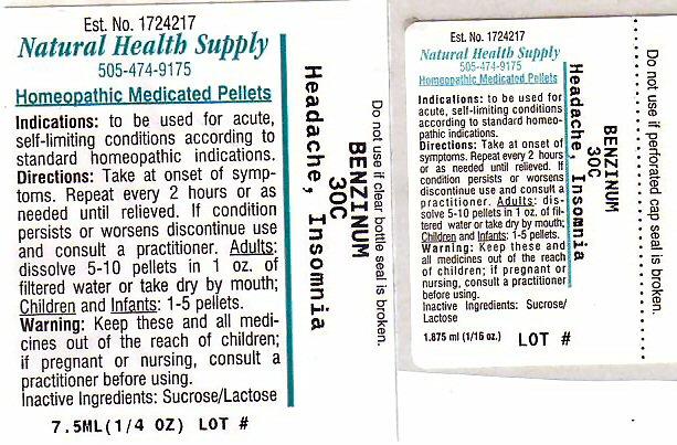 Headache Insomnia (Benzene ) Pellet [Natural Health Supply]