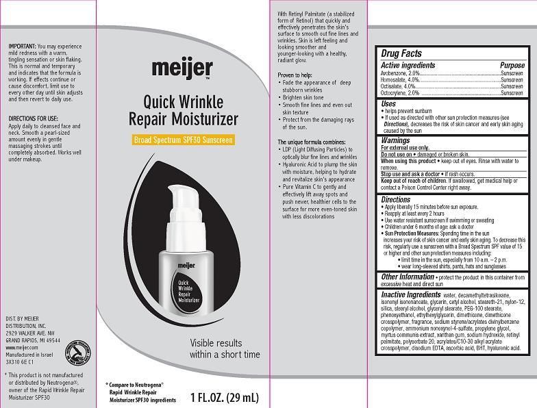Quick Wrinkle Repair Moisturizer Broad Spectrum Spf30 (Avobenzone, Homosalate, Octisalate, Octocrylene) Cream [Meijer Distribution Inc]