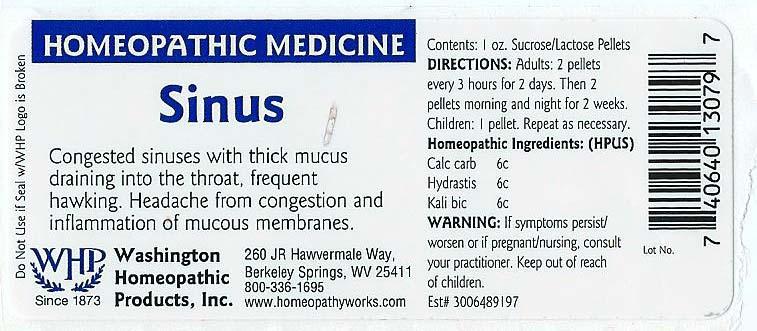 Sinus (Calcium Carbonate – Goldenseal – Potassium Dichromate) Pellet [Washington Homeopathic Products]