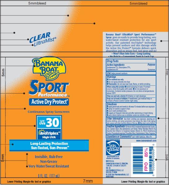 PRINCIPAL DISPLAY PANEL Banana Boat Sport Performance SPF 30