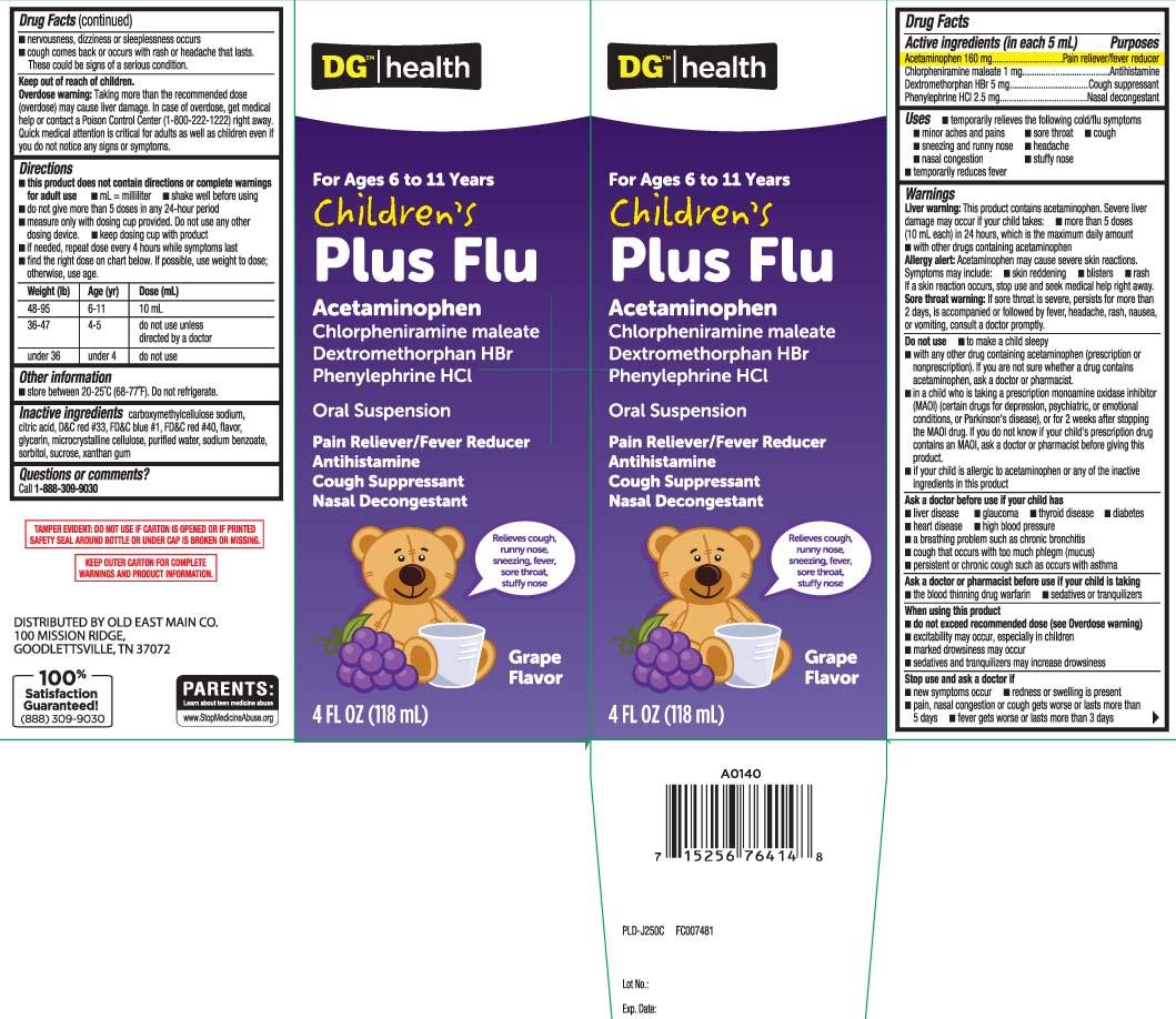 Childrens Plus Flu (Acetaminophen, Chlorpheniramine Maleate, Dextromethorphan Hydrobromide, Phenylephrine Hci) Suspension [Dolgencorp, Inc. (Dollar General & Rexall)]