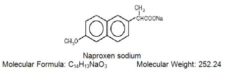 Naproxen sodium structural formula