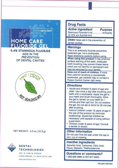 Home Care Fluoride (Stannous Fluoride) Gel [Dental Technologies, Inc.]
