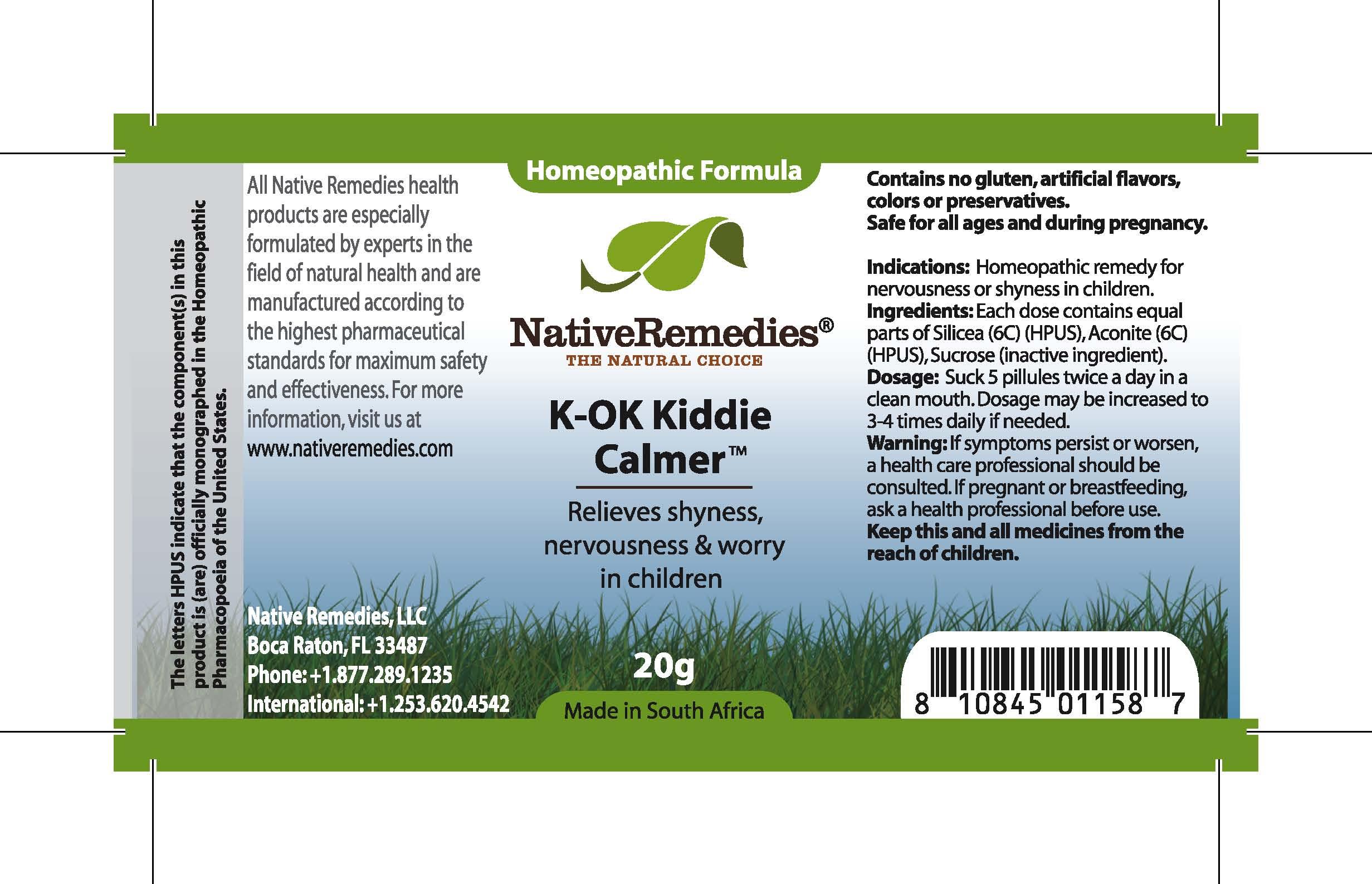 K-ok Kiddie Calmer (Silicea , Aconite , Sucrose ) Tablet [Feelgood Health]