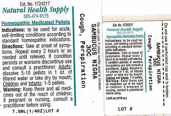 Cough Perspiration (Sambucus Nigra Flowering Top) Pellet [Natural Health Supply]