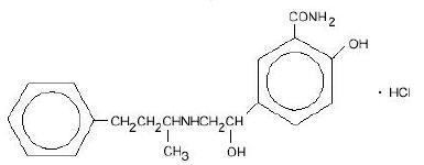 Labetalol Hydrochloride Structural Formula