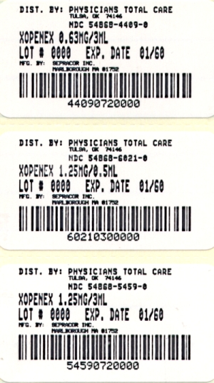 image of 3 package labels