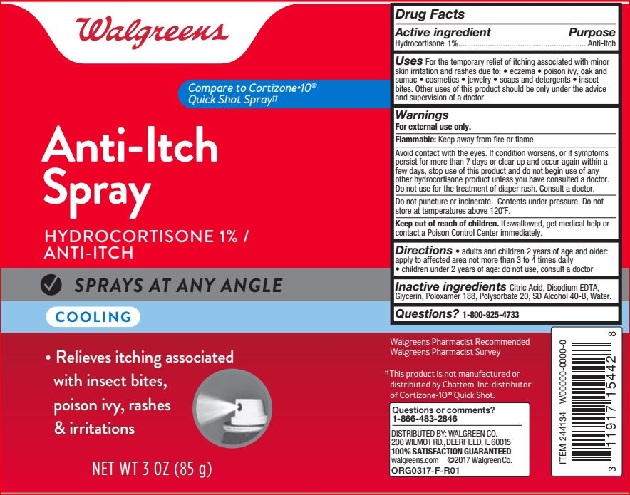 Cooling Itch Relief Well At Walgreens (Hydrocortisone 1%) Spray [Walgreens]