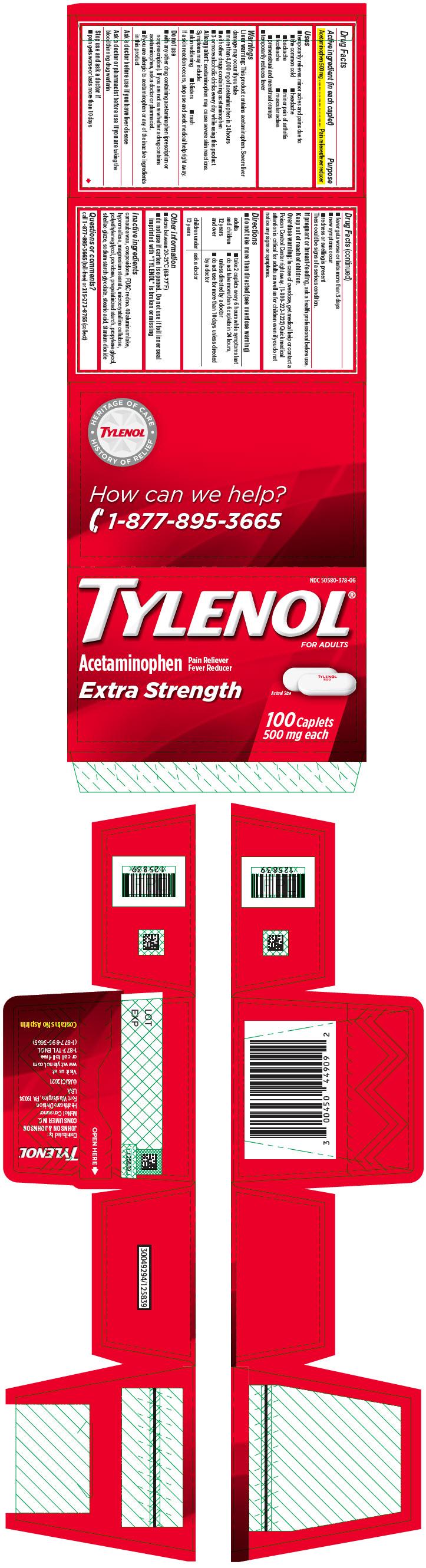Tylenol Extra Strength (Acetaminophen) Tablet, Film Coated [Mcneil Consumer Healthcare Div Mcneil-ppc, Inc]
