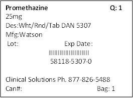 Promethazine Hydrochloride Tablet [Clinical Solutions Wholesale]