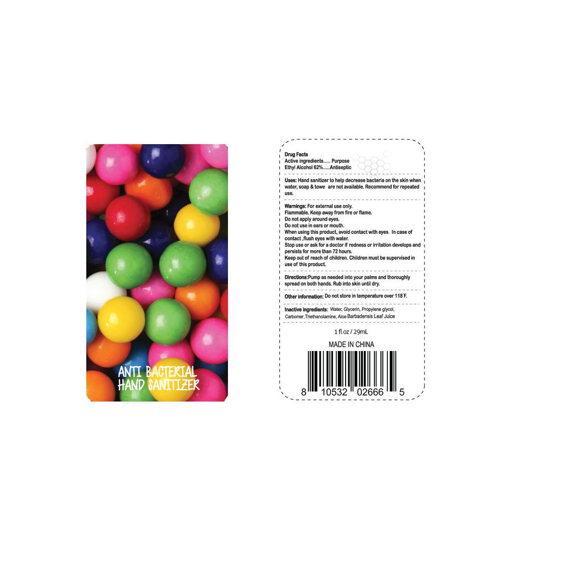 Anti Bacterial Hand Sanitizer (Ethyl Alcohol) Gel [Dolgencorp Inc.]