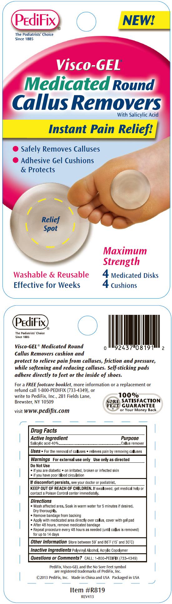 Visco-gel Medicated Round Callus Removers (Salicylic Acid) Disc [Pedifix, Inc.]