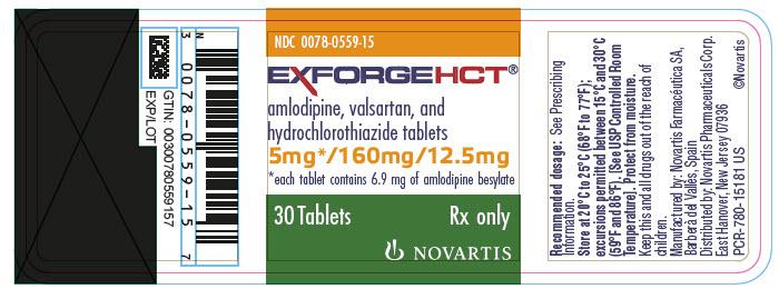 Exforge Hct (Amlodipine Valsartan And Hydrochlorothiazide) Tablet, Film Coated [Novartis Pharmaceuticals Corporation]