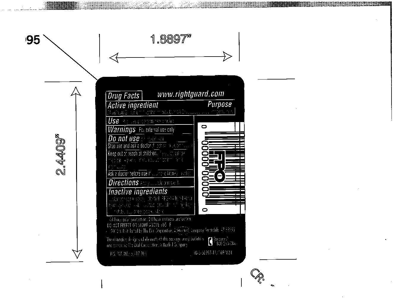 Right Guard Sport Triathlon (Aluminum Zirconium Octachlorhydrex Gly) Stick [Vvf Illinois Services]