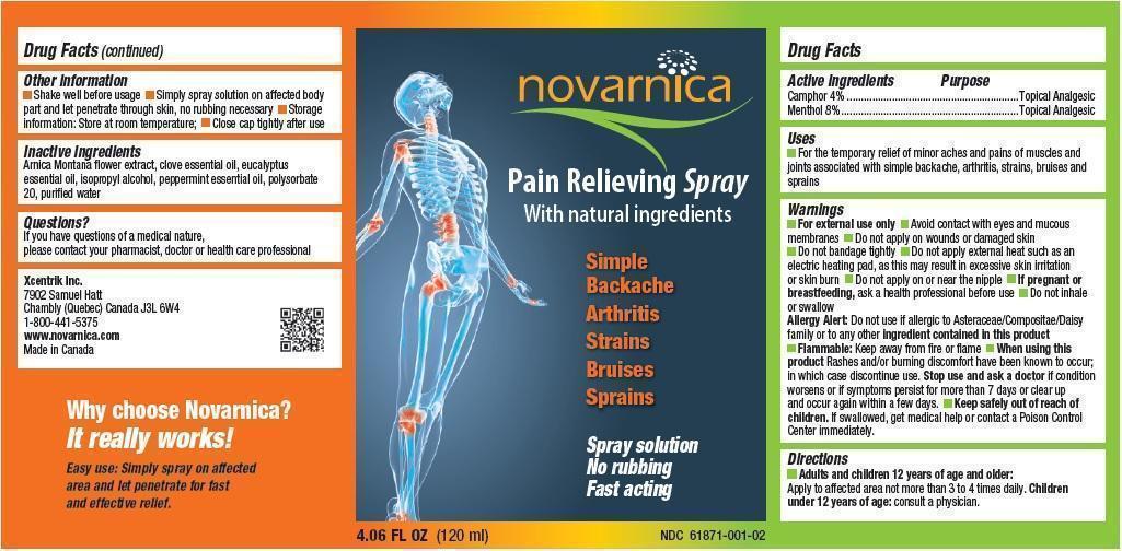 Novarnica (Camphor And Menthol) Spray [Xcentrik Inc.]