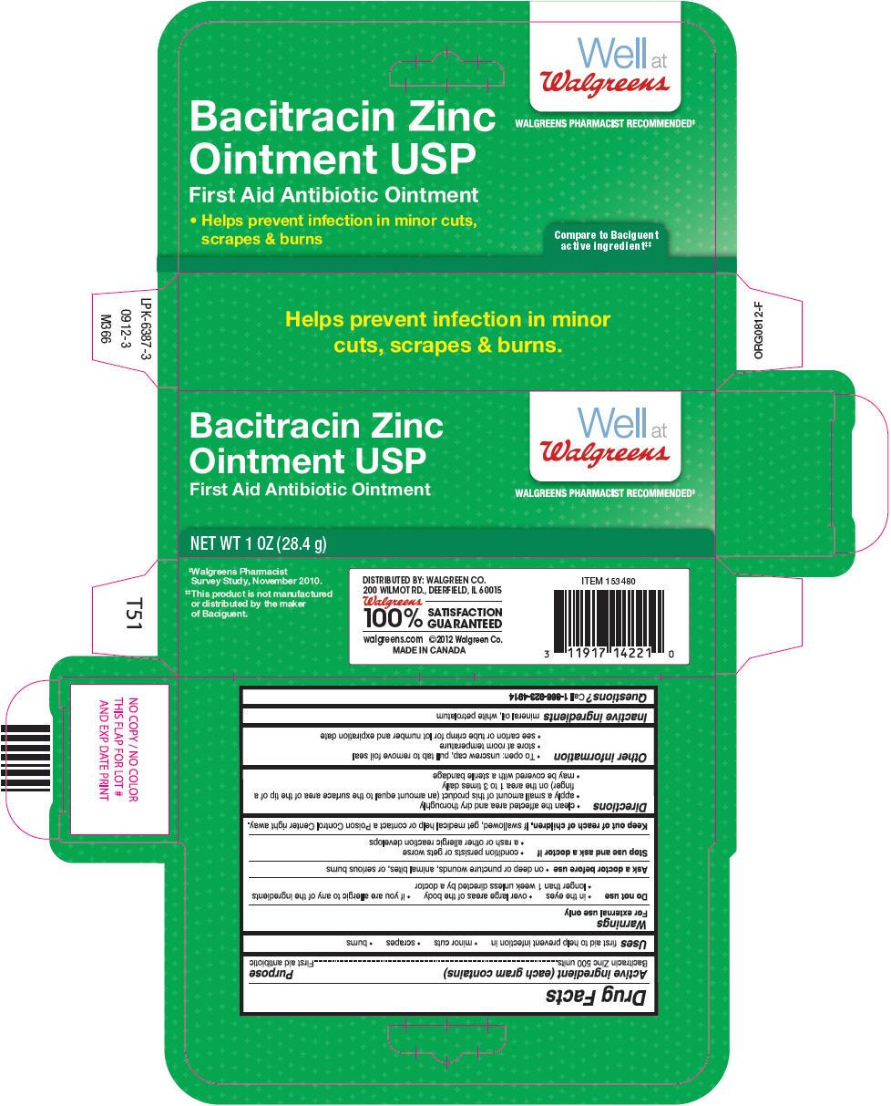Walgreens Bacitracin Zinc (Bacitracin Zinc) Ointment [Walgreen Company]