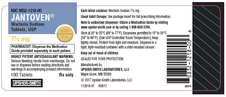 PRINCIPAL DISPLAY PANEL - 7½ mg Tablet Bottle Label