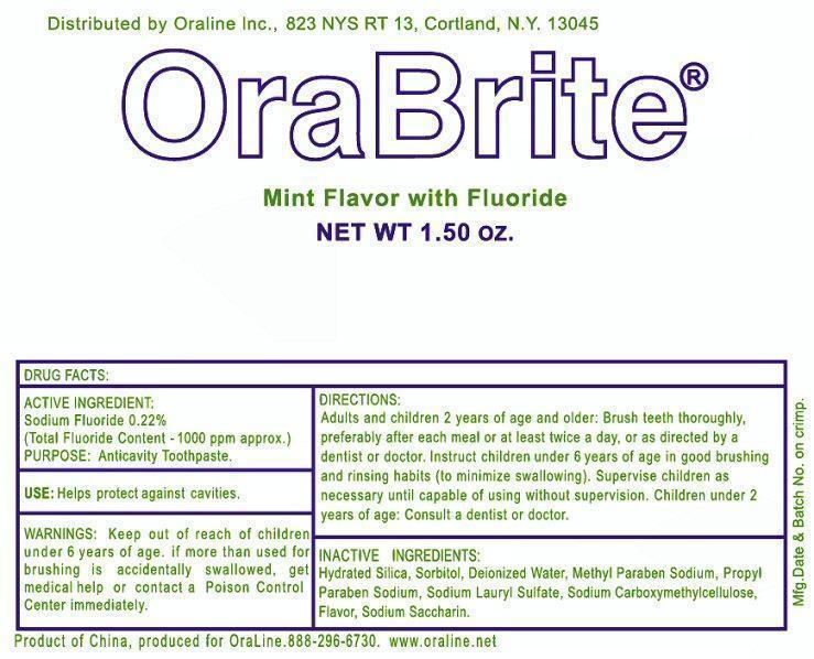 Oraline OraBrite 2 Label