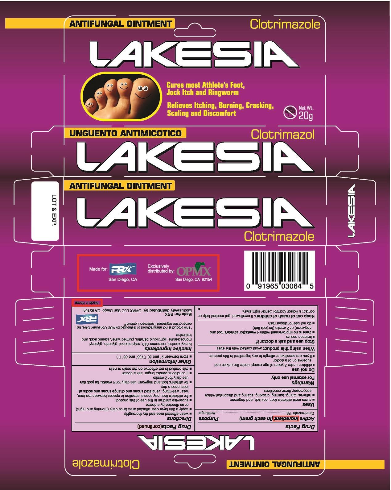 Lakesia (Clotrimazole) Cream [Opmx Llc]