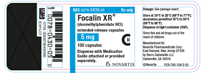 Ritalin La (Methylphenidate Hydrochloride) Capsule, Extended Release [Novartis Pharmaceuticals Corporation]