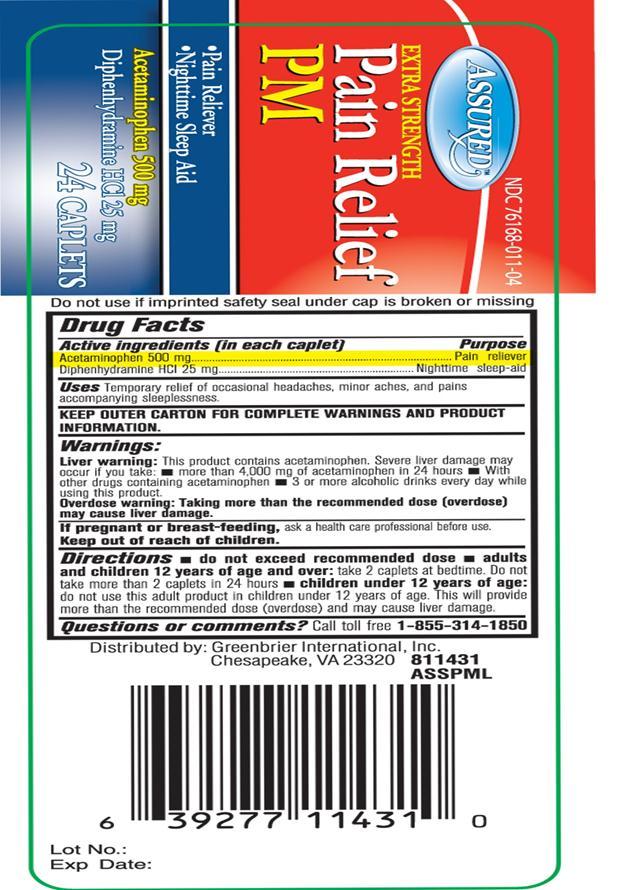 Pain Relief Pm (Acetaminophen Pm) Tablet [Velocity Pharma]