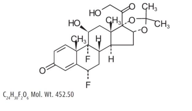 Fluocinolone Acetonide (Structural formula)