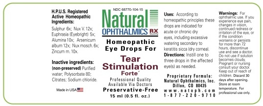 Tear Stimulation Forte (Sulphur, Strychnos Nux-vomica Seed, Euphrasia Stricta, Aluminum Oxide, Arsenic Trioxide, Nutmeg, Zinc) Liquid [Natural Ophthalmics, Inc]