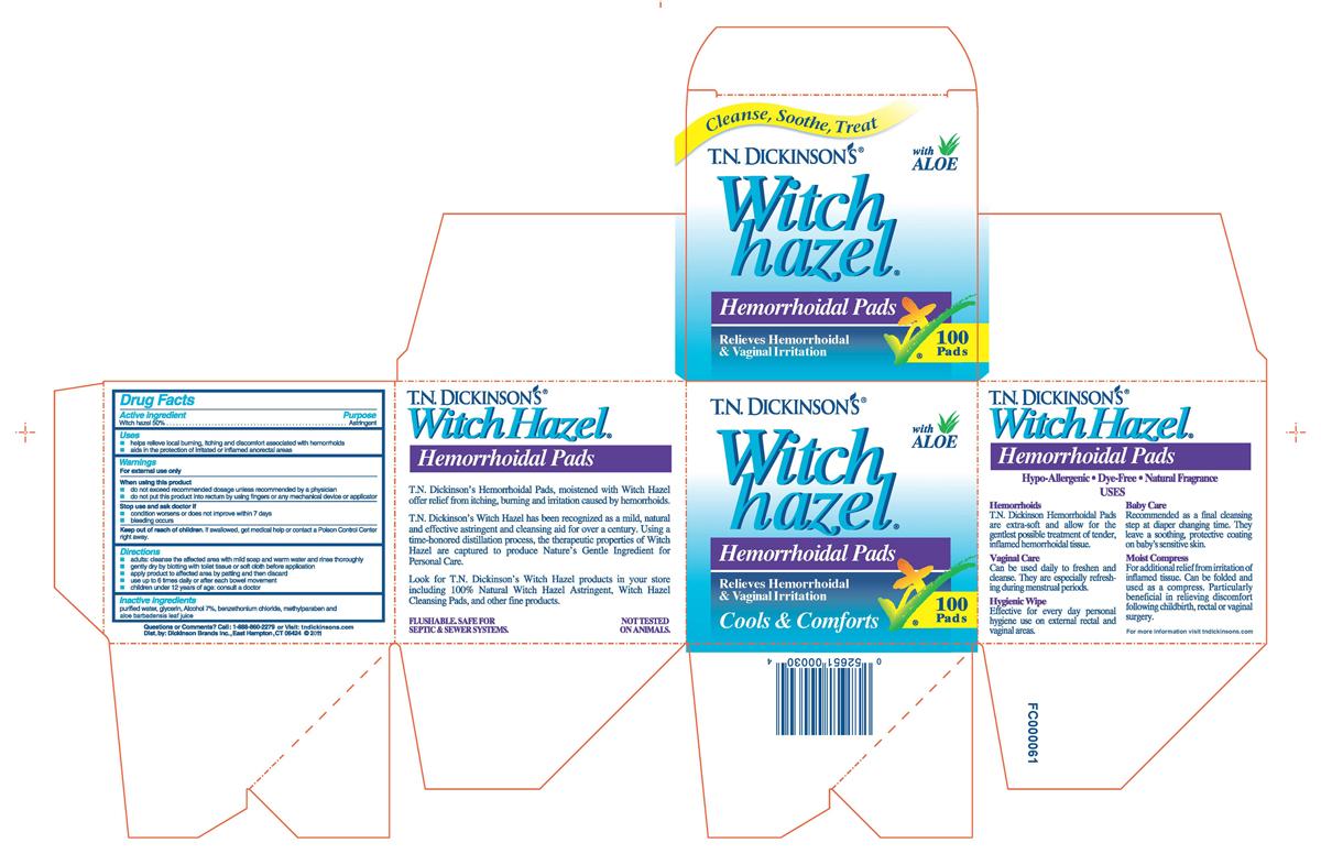 Tn Dickinsons Witch Hazel Hemorrhoidal Pads (Witch Hazel) Cloth [Dickinson Brands Inc.]