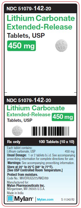 Lithium Carbonate Tablet, Extended Release [Mylan Institutional Inc.]