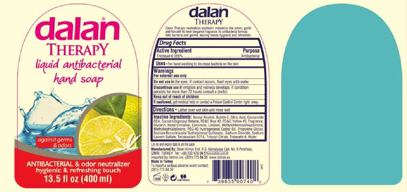 Dalan Therapy Antibacterial And Odor Neutralizer (Triclosan) Liquid [Dalan Kimya Endustri A.s.]