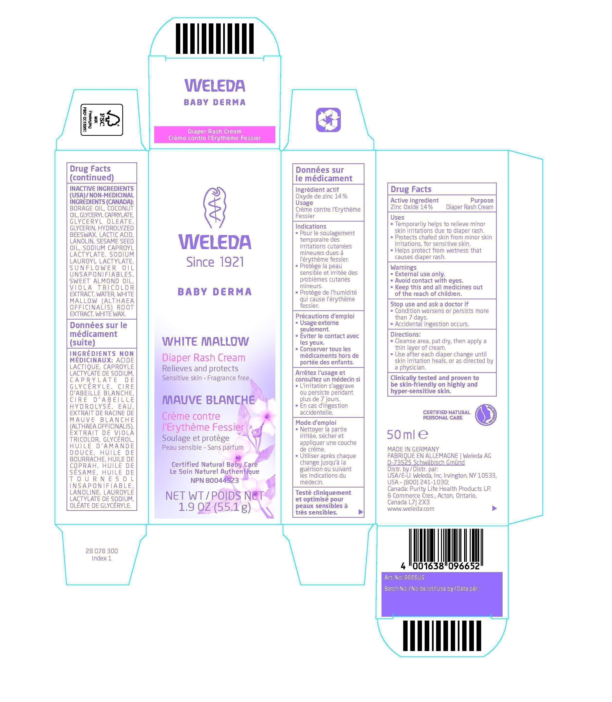 White Mallow Diaper Rash Cream (Zinc Oxide) Cream [Weleda A.g. Schwäbisch Gmünd, Zweigniederlassung Der Weled]