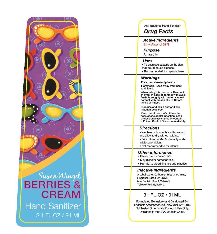 Susan Winget Berries And Cream Hand Sanitizer (Alcohol) Liquid [Enchante Accessories Inc. ]