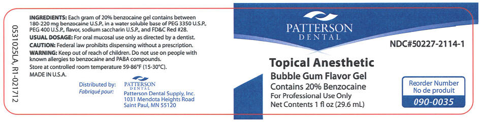 Topical Anesthetic Bubble Gum (Benzocaine) Gel [Patterson Dental Supply Inc]
