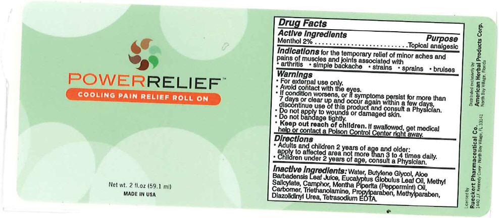 Power Relief (Menthol) Gel [Clientele, Inc.]