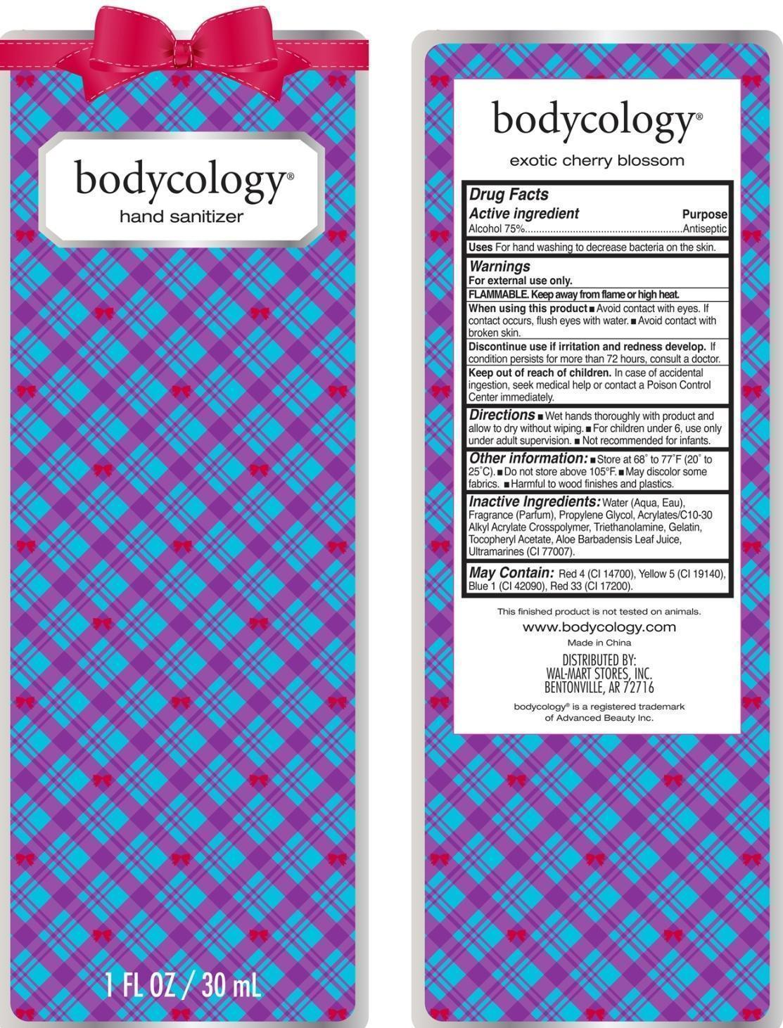 Exotic Cherry Hand Sanitizer Bodycology (Alcohol) Liquid [Wal-mart Stores Inc]