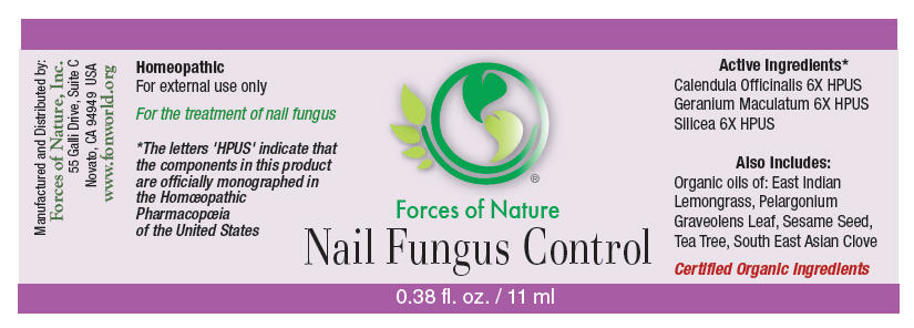 Nail Fungus Control (Calendula Officinalis Flowering Top, Geranium Maculatum Root, And Silicon Dioxide) Solution/ Drops [Forces Of Nature]