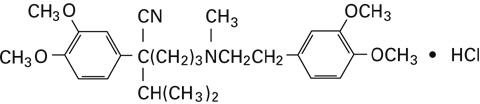 structural formula verapamil hydrochloride
