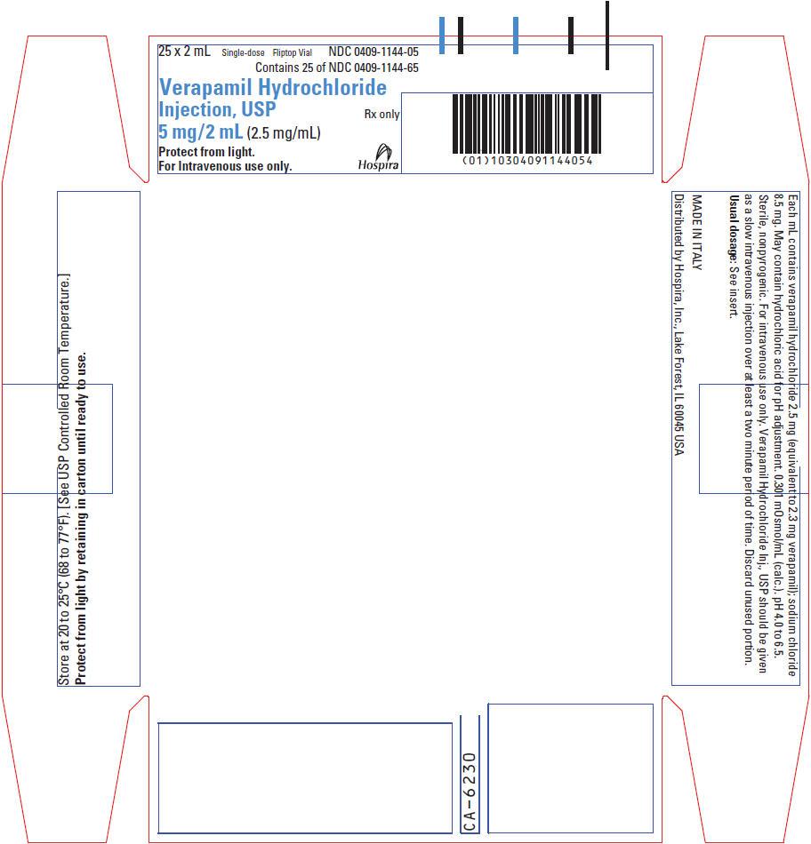 PRINCIPAL DISPLAY PANEL - 2 mL Vial Label - NDC 0409-1144-05