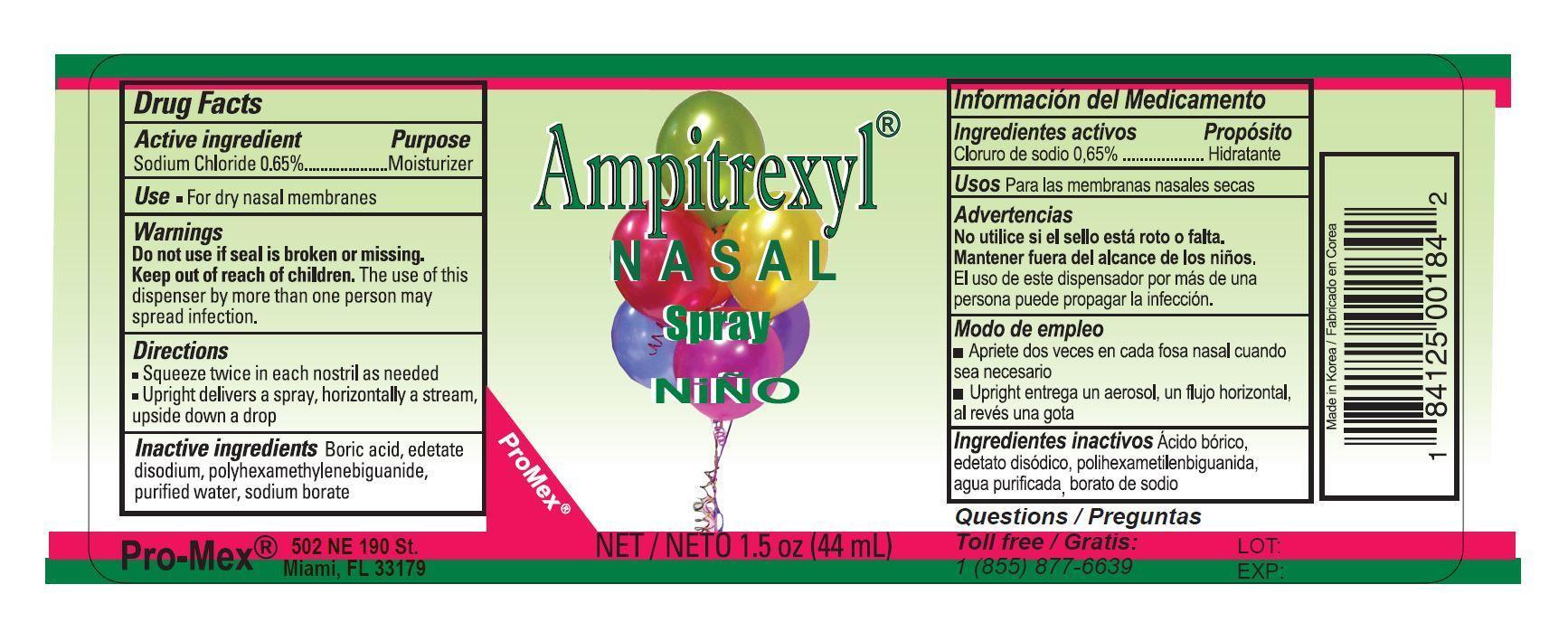 Saline Nasal (Sodium Chloride) Spray [Promex, Llc]