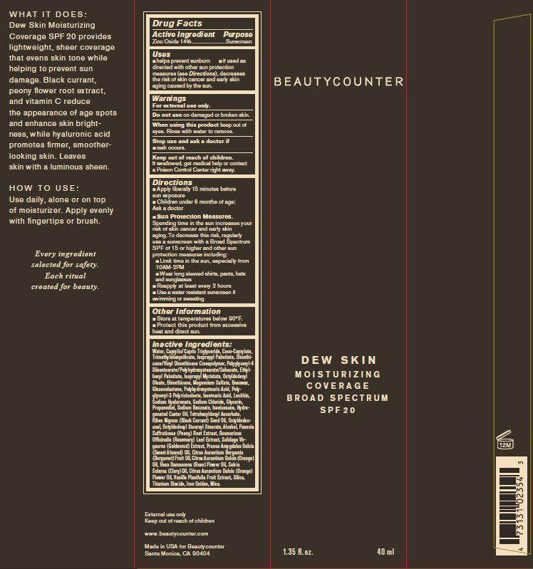 Beauty Counter Dew Skin Moisturizer Medium Spf 20 (Zinc Oxide) Lotion [Counter Brands, Llc]