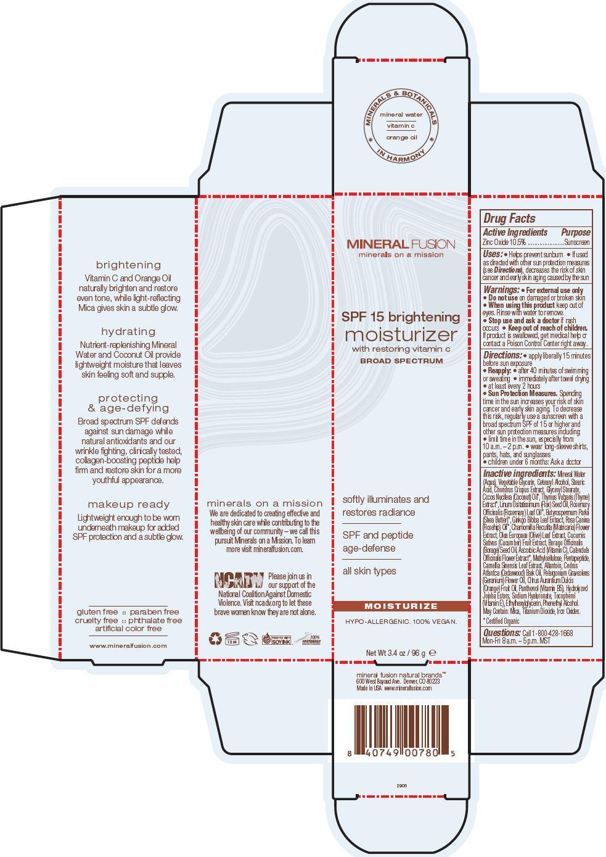 Spf 15 Brightening Moisturizer (Zinc Oxide) Cream [Mineral Fusion Natural Brands]