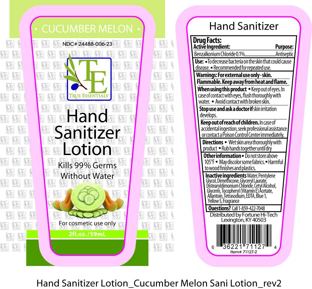True Essentials Hand Sanitizer (Benzalkonium Chloride) Lotion [Fortune Hi-tech]