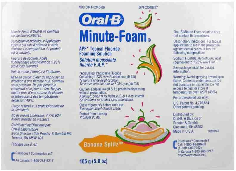 Oral-b Minute-foam Banana Splitz (Acidulated Phosphate Fluoride) Aerosol [Oral-b Laboratories]