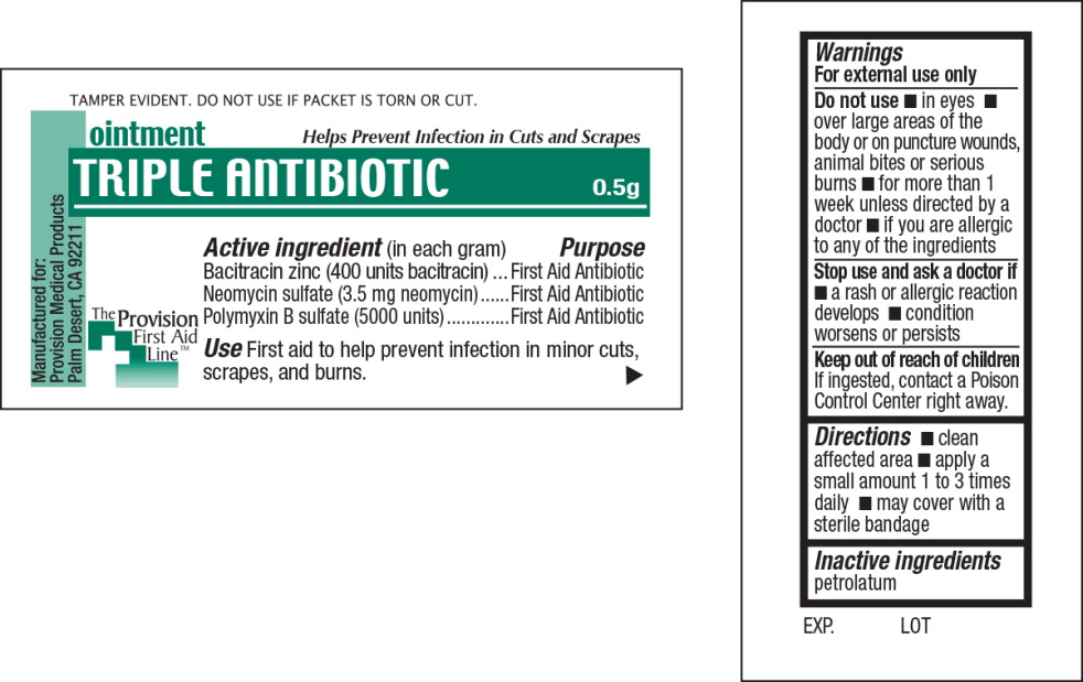 Triple Antibiotic (Bacitracin Zinc, Neomycin Sulfate, Polymyxin B Sulfate) Ointment [Provision Medical]