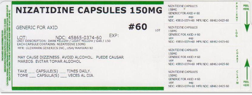 Nizatidine Capsule [Medsource Pharmaceuticals]