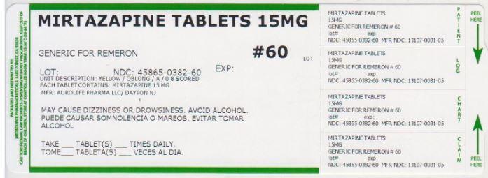 Mirtazapine Tablet, Film Coated [Medsource Pharmaceuticals]