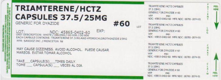 Triamterene And Hydrochlorothiazide Capsule [Medsource Pharmaceuticals]